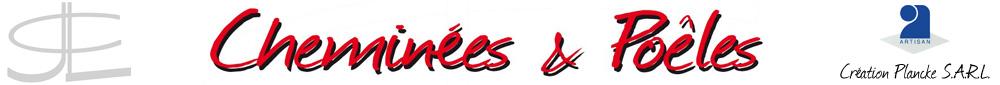 Logo plancke creation cheminées et poeles